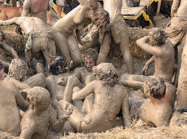 amateur mud wrestling