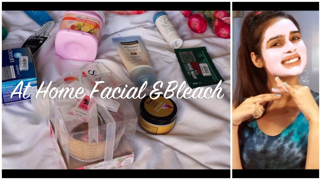 facial make to how bleach