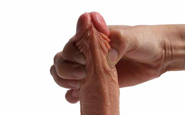 anus dildo the her touched