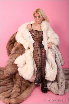 coat woman fur fetish domination in