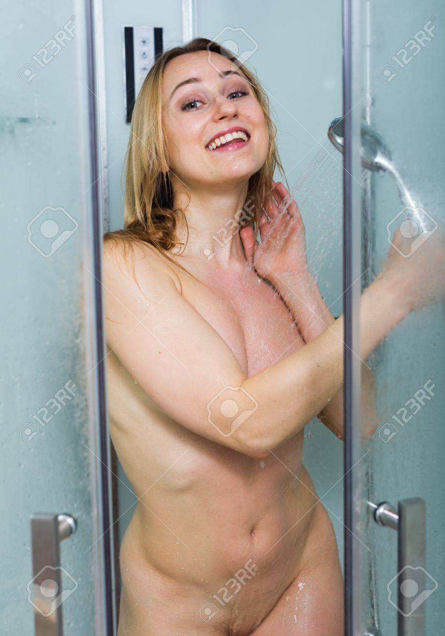 getting naked of out shower the women