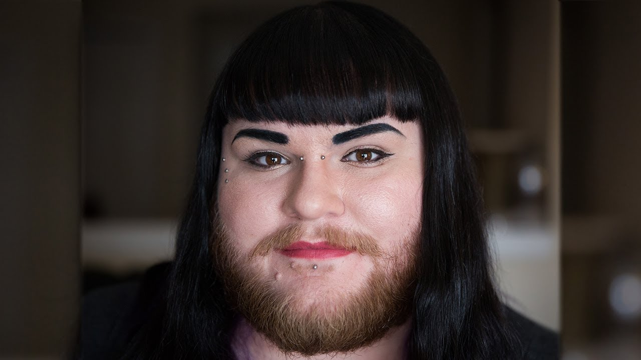 hairy face girl