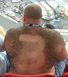 nascar back shaved picture