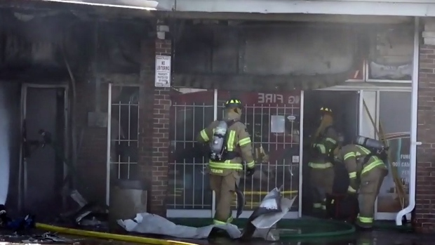 strip mall fires canada