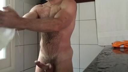 gym shower boner