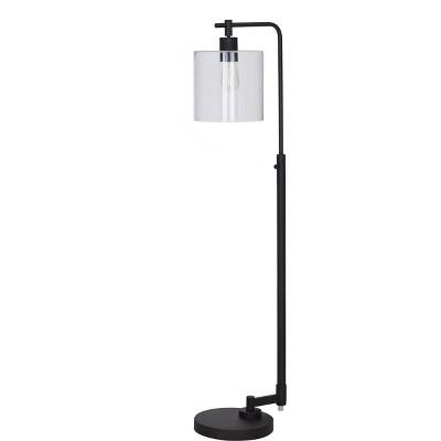 ebony threshold floor lamp pendant