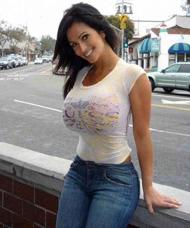 tiny in shirts tits big