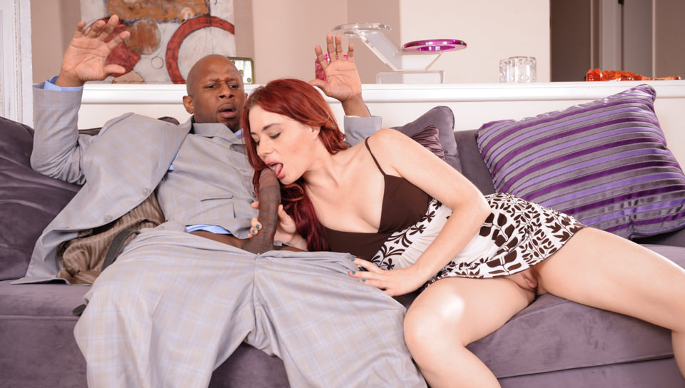 redhead the porn hard black your