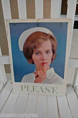 vintage hospital nurse sign