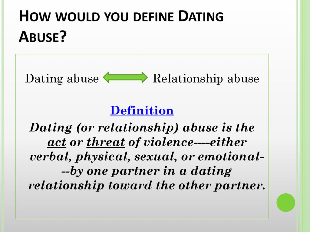 define dating abuse
