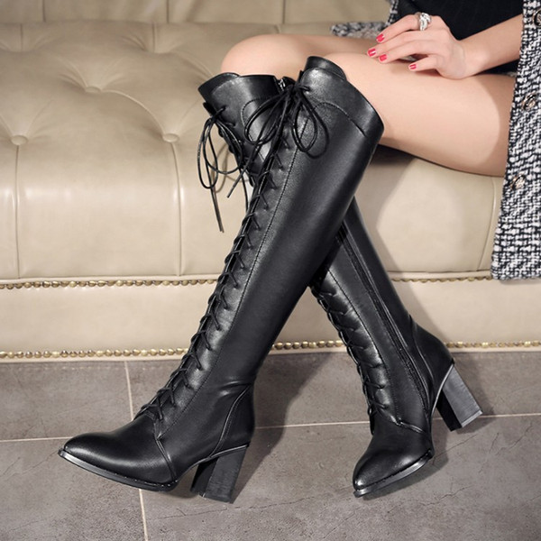 leather in sexy boots women