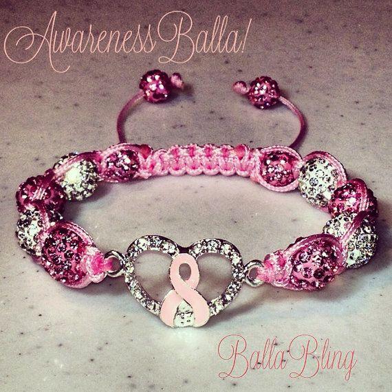 bracelet swarovski breast cancer