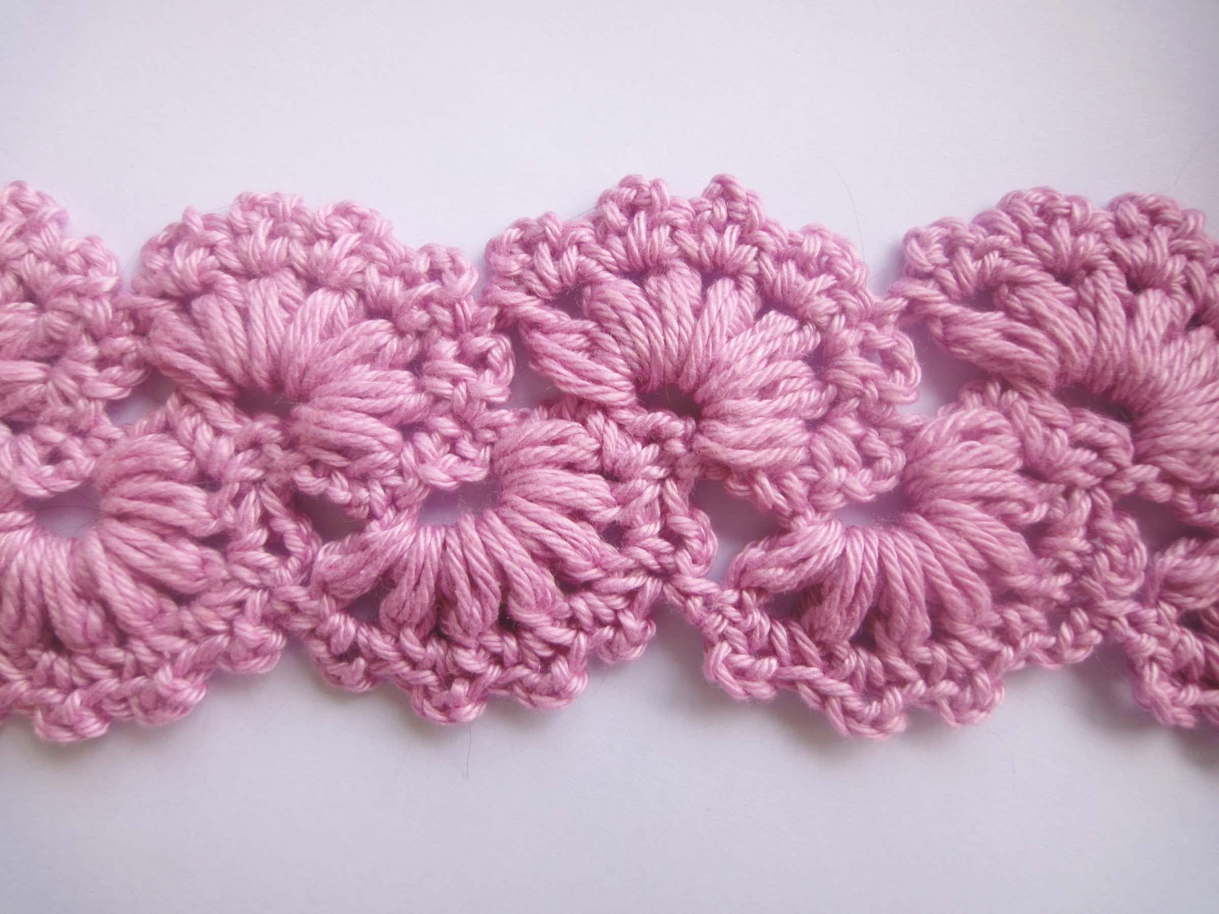 crochet strip motifs