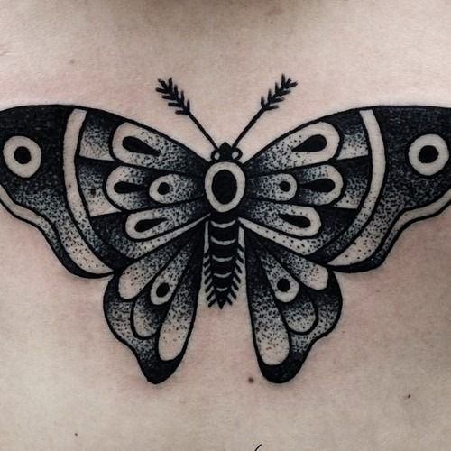 tattoos vintage butterfly