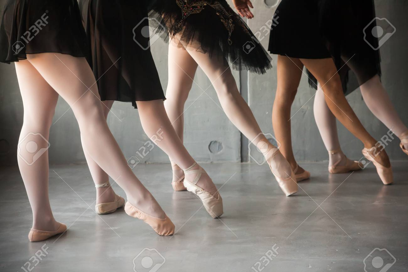in pantyhose dance