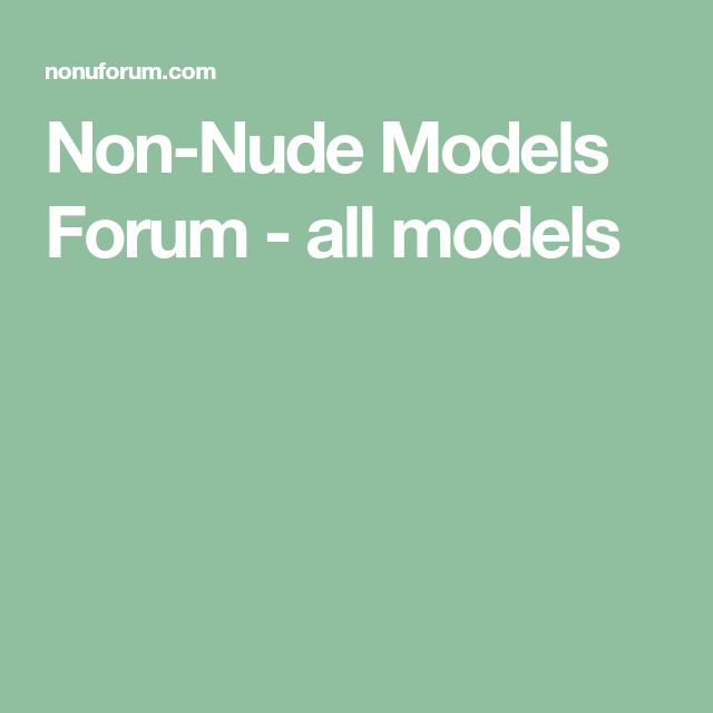 nude no forum models