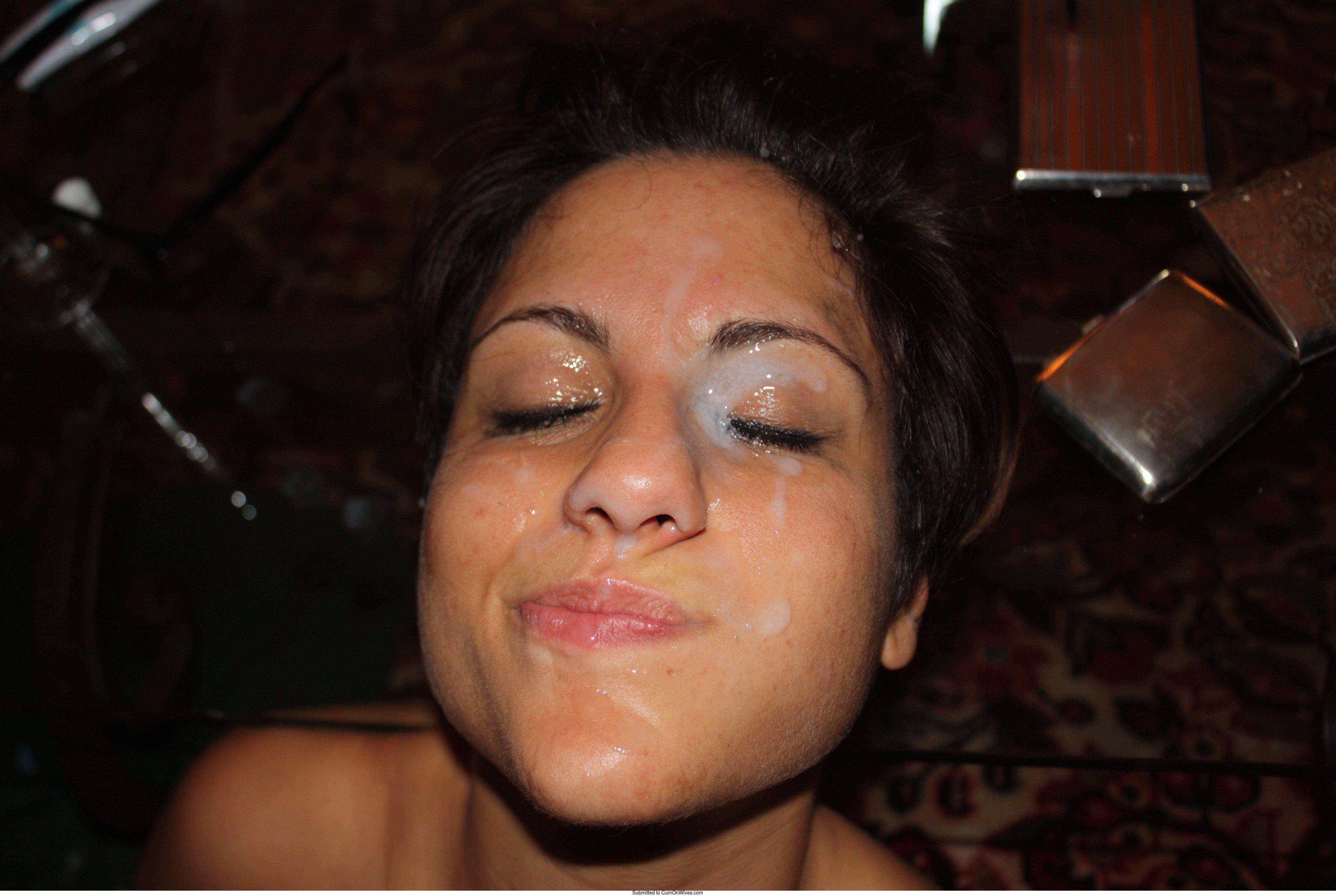 cumshot eye amateur facial